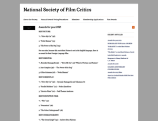 nationalsocietyoffilmcritics.com screenshot