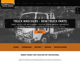 nationaltruckspares.com.au screenshot