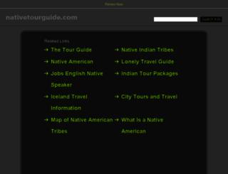 nativetourguide.com screenshot