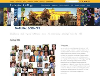 natsci.fullcoll.edu screenshot
