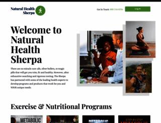 naturalhealthsherpa.com screenshot