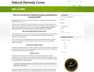 naturalremedycures.com screenshot