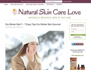 naturalskincarelove.com screenshot