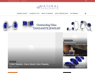 naturaltanzanite.com screenshot