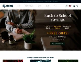 naturessunshine.com screenshot
