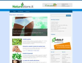 naturestore.it screenshot