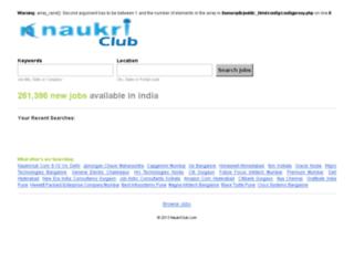 naukriclub.com screenshot