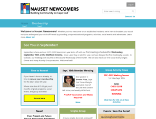 nausetnewcomers.wildapricot.org screenshot
