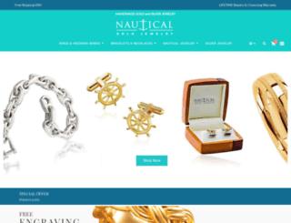 nauticalgoldjewelry.com screenshot