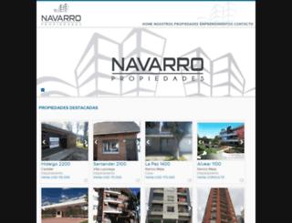 navarro-propiedades.com.ar screenshot