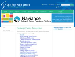 naviance.spps.org screenshot
