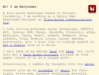 navjinder.com screenshot