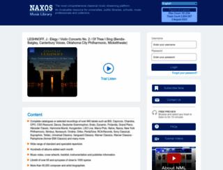 naxosmusiclibrary.com screenshot