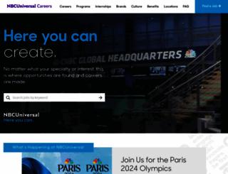 nbcunicareers.com screenshot