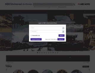 nbcuniversalarchives.com screenshot