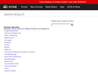 nbcuniversalstore.resultspage.com screenshot