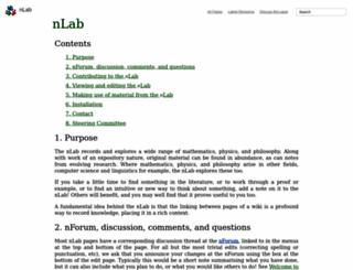 ncatlab.org screenshot