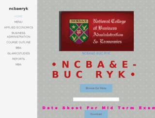 ncbaeryk.yolasite.com screenshot