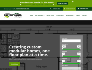 nccustommodulars.com screenshot