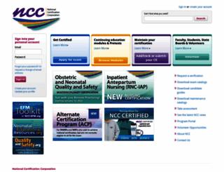 nccwebsite.org screenshot