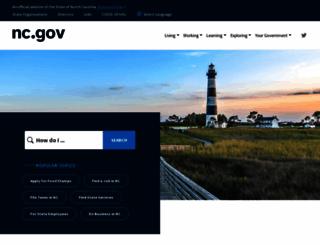 ncgov.com screenshot
