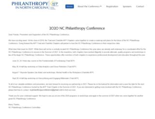 ncphilanthropyconference.org screenshot