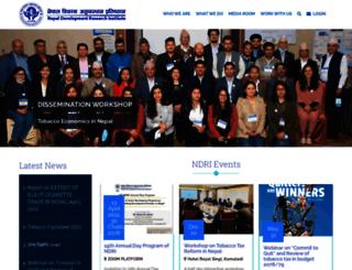 ndri.org.np screenshot