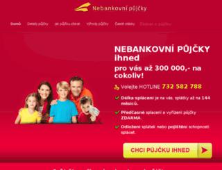 nebankovni-pujcky.org screenshot