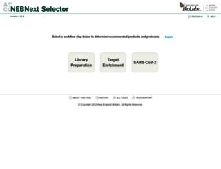 nebnextselector.neb.com screenshot