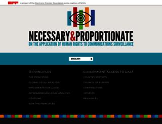 necessaryandproportionate.org screenshot