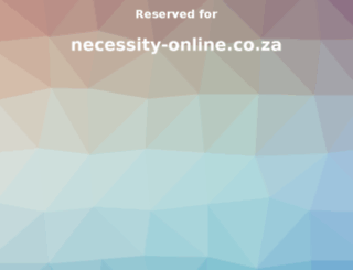 necessity-online.co.za screenshot