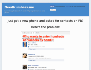 neednumbers.me screenshot