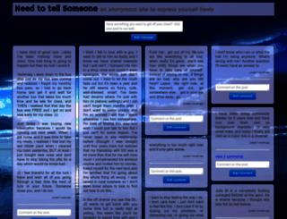 needtotellsomeone.com screenshot