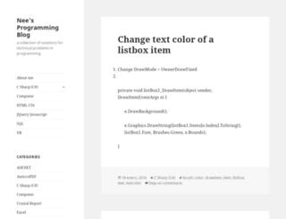 neesprogrammingblog.wordpress.com screenshot