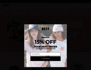 neffheadwear.com screenshot