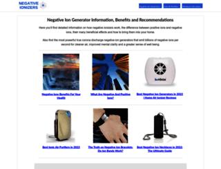 negativeionizers.net screenshot