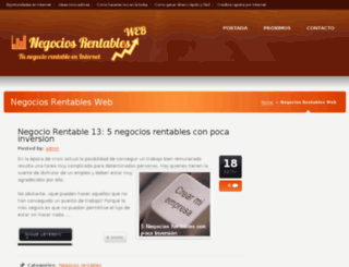 negociosrentablesweb.es screenshot