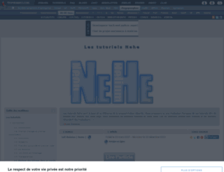 nehe.developpez.com screenshot