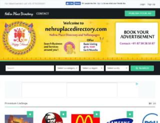 nehruplacedirectory.com screenshot