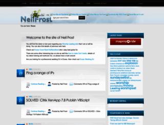 neilfrost.com screenshot
