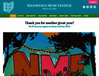 nelsonvillefest.org screenshot