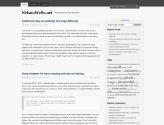 nelsonwells.net screenshot