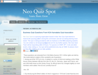 neoquizspot.blogspot.com screenshot