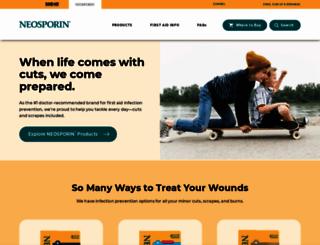 neosporin.com screenshot