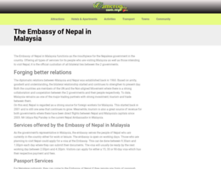nepalembassy.com.my screenshot