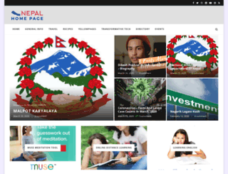 nepalhomepage.com screenshot