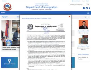 nepalimmigration.gov.np screenshot