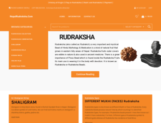 nepalrudraksha.com screenshot