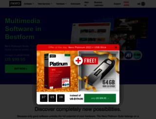 nero.com screenshot