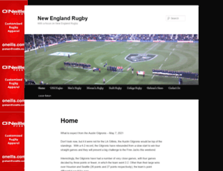 nerugby.com screenshot